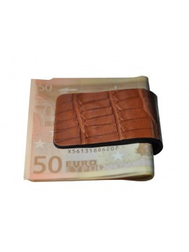 PINCE A BILLETS en crocodile gold