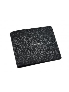 Black shagreen credit card holder/billfold