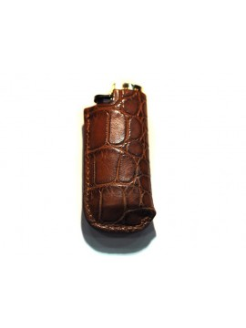 Housse de mini-bic en crocodile marron clair
